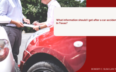 What information should I get after a car accident in Texas?